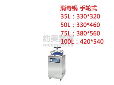 立式蒸汽灭菌器 消毒锅 手轮式 35L/50L/75L/100L